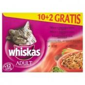 Whiskas Adult Menu z tmavého masa ve šťávě kompletní krmivo pro dospělé kočky 12 x 100g