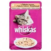 Whiskas Telecí maso v krémové omáčce kompletní krmivo pro dospělé kočky 100g