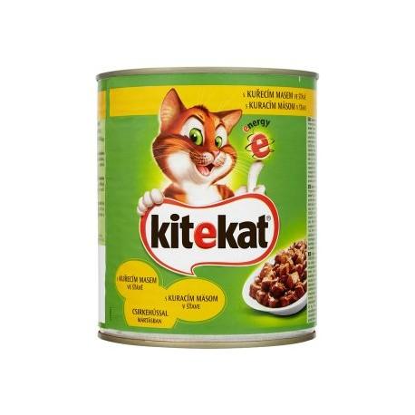 Kitekat Kuřecí maso ve šťávě kompletní krmivo pro dospělé kočky 800g