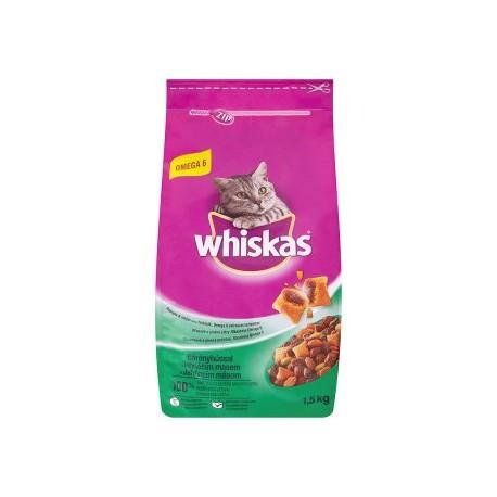 Whiskas Jehněčí maso kompletní krmivo pro dospělé kočky 1,5kg