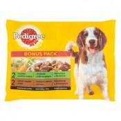 Pedigree Bonus pack kompletní krmivo pro dospělé psy 4 x 100g
