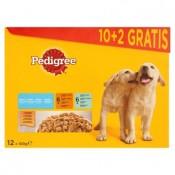 Pedigree Junior Kuřecí a krůtí maso ve šťávě kompletní krmivo pro rostoucí psy a štěňata 12 x 100g