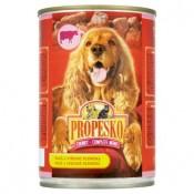 Propesko Kousky s hovězím a játry kompletní krmivo pro dospělé psy 415g