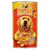 Propesko Kousky s kuřecím, těstovinami a mrkví kompletní krmivo pro dospělé psy 1240g