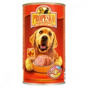 Propesko Paté s krůtím a kuřecím kompletní krmivo pro dopělé psy 1240g