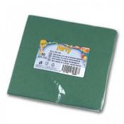 Papírové ubrousky - dvouvrstvé, zelené, 20 ks