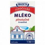 Madeta Jihočeské mléko plnotučné trvanlivé 1l
