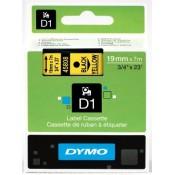 Páska Dymo D1 šíře 19 mm, černá/žlutá