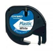 Páska DYMO LetraTag plastová, 12 mm, bílá