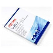 Etikety Sigma 52,5×21,2mm bílé 100 listů 1ks